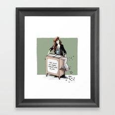 Comme une rengaine... Framed Art Print