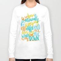 vonnegut Long Sleeve T-shirts featuring ...JUMPING OFF CLIFFS by Matthew Taylor Wilson