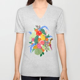 Fruits and Jungle Combo Unisex V-Neck