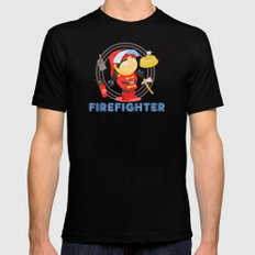Firefighter Black Mens Fitted Tee MEDIUM
