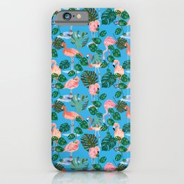 Tropical Flamingos iPhone Case