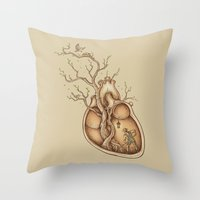 carpe Throw Pillows featuring Tree of Life by Enkel Dika
