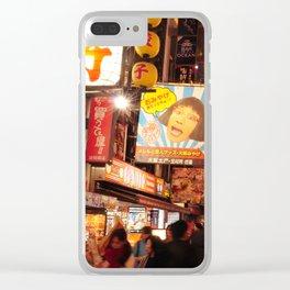 Night Vibe in Dotonburi, Osaka Clear iPhone Case