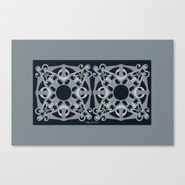 Support Love Mandala x 2 - Neutral/Black Canvas Print