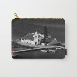 Vlacherna Monastery in Corfu [B&W, color details] Carry-All Pouch