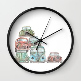Car Graveyard Wall Clock