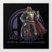 super smash bros Canvas Prints featuring Ganondorf - Super Smash Bros. by Donkey Inferno
