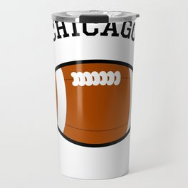 Chicago American Football Design black lettering Travel Mug