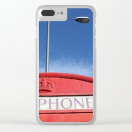 british telephone booth Clear iPhone Case