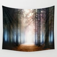 agnes Wall Tapestries featuring Enchanted Forest by Viviana Gonzalez