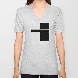 Team Color 6....black,white Unisex V-Neck