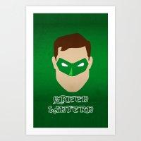green lantern Art Prints featuring Green Lantern by Sport_Designs