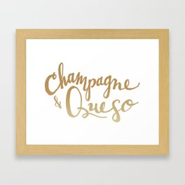 Champagne & Queso Framed Art Print