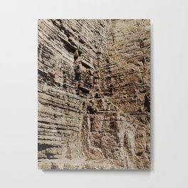 Cliff Closeup Metal Print