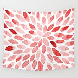 Watercolor brush strokes - red Wall Tapestry