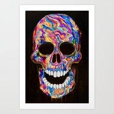 Chromatic Skull 02 Art Print