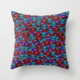 Lips Are Movin Throw Pillow