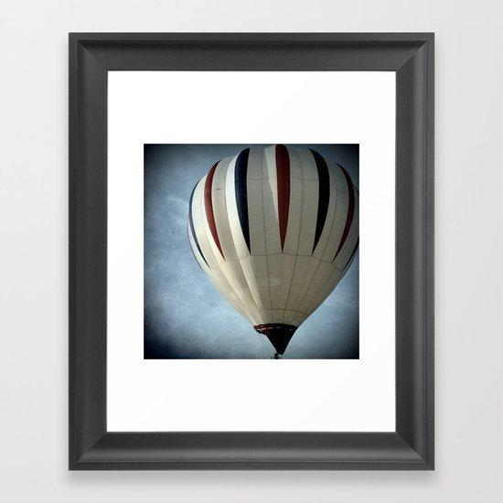 White with Stripes Framed Art Print