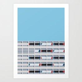 S03-1 - Facade Le Corbusier Art Print