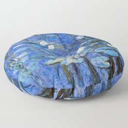 waterlilies a la Monet Floor Pillow