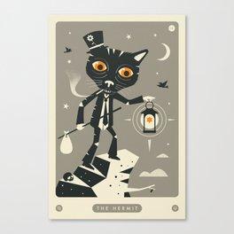 TAROT CARD CAT: THE HERMIT Canvas Print