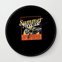 Summer Forecast Jet Ski Wall Clock