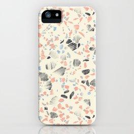 Terrazzo Sketch West iPhone Case
