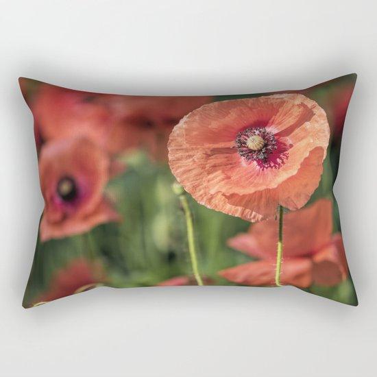 Poppy what else? Rectangular Pillow