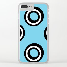 Round Circles Clear iPhone Case