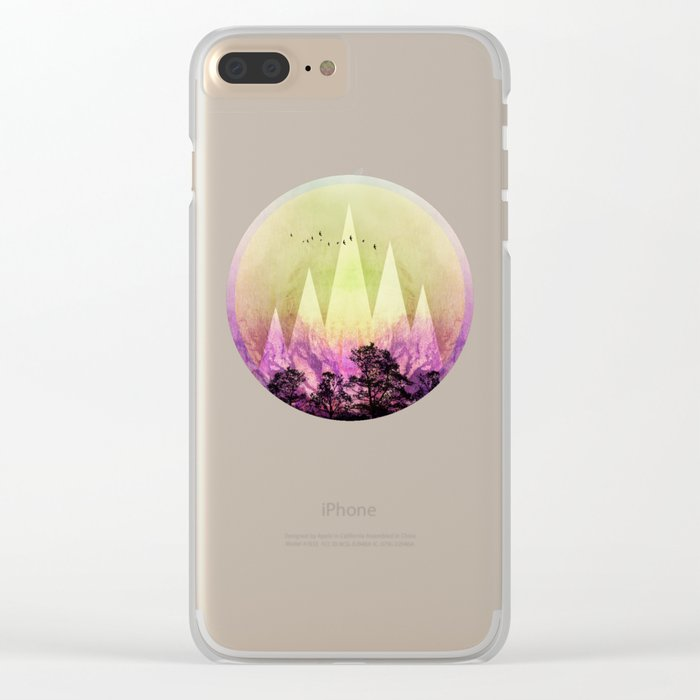 TREES under MAGIC MOUNTAINS III Clear iPhone Case