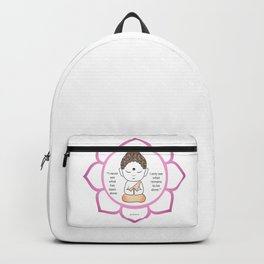 Cute little Buddha in a lotus flower Backpack