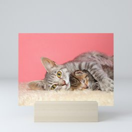 A Mother's Love is Furr-Ever Mini Art Print