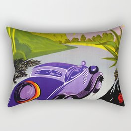 Visit Greece in Auto Travel Rectangular Pillow