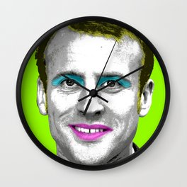 Marilyn Macron - Lime Wall Clock