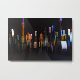 Shanghai Skyline II Metal Print