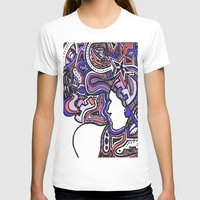 techno T-shirts featuring Salmon Techno by Madison R. Leavelle