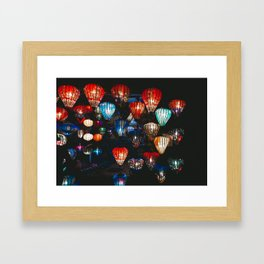 Lanterns in the Night Market, Hoi An, Vietnam Framed Art Print