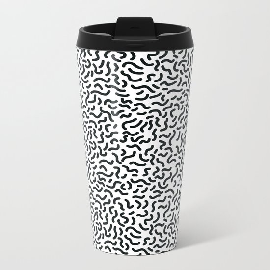 Memphis pattern 3 Metal Travel Mug