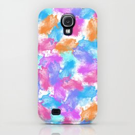 watercolor party blue/fuchsia iPhone Case