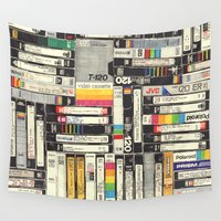 netflix Wall Tapestries featuring VHS by HOLLIS BROWN THORNTON