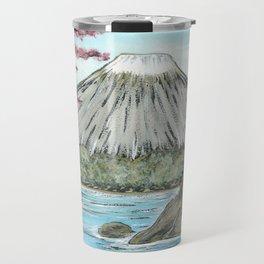 Mt. Fuji in Spring Travel Mug