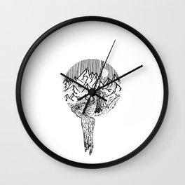 Mountain Campfires Wall Clock