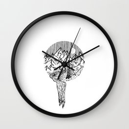 Mountain Campfires Wall Clock