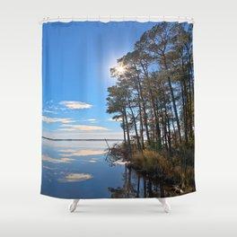 Blackwater Sunburst Marsh Shower Curtain