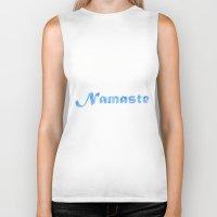 namaste Biker Tanks featuring Namaste by PatriciaRoberta