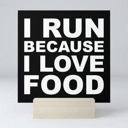 I LOVE FOOD Mini Art Print