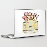 marc Laptop & iPad Skins featuring Daisy - Marc Jacob's Perfume Illustrated by Amy frances Illustration