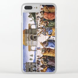 The Delivery of the Keys Painting by Perugino Sistine Chapel Clear iPhone Case