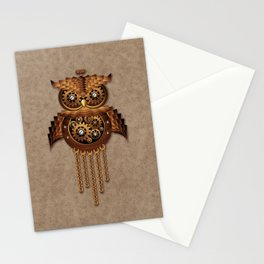 Steampunk Owl Vintage Style Stationery Cards