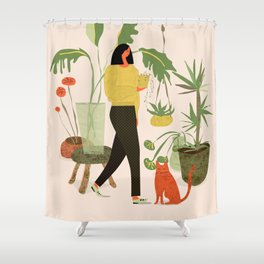 Migrating a Plant Shower Curtain